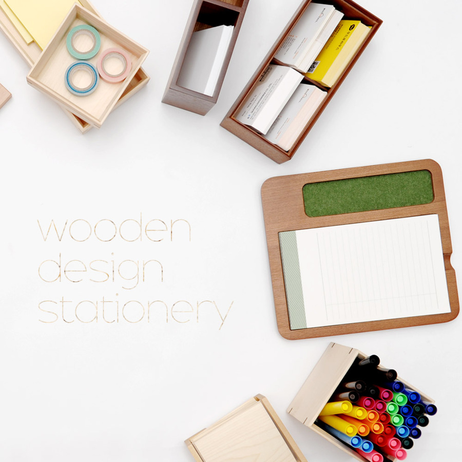 all about wood design stationery