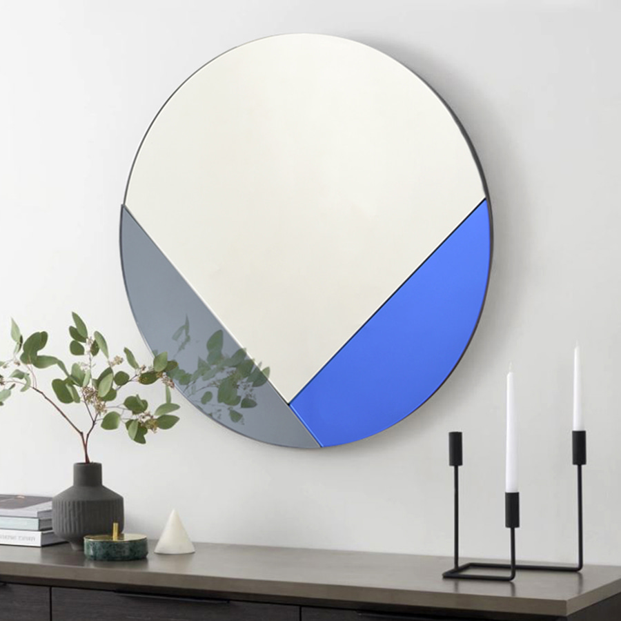 Chloe Art Round Mirror