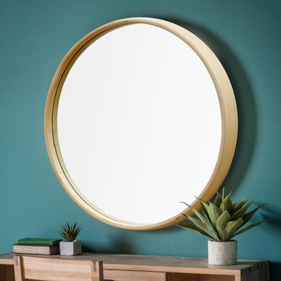 Wood round Mirror Series