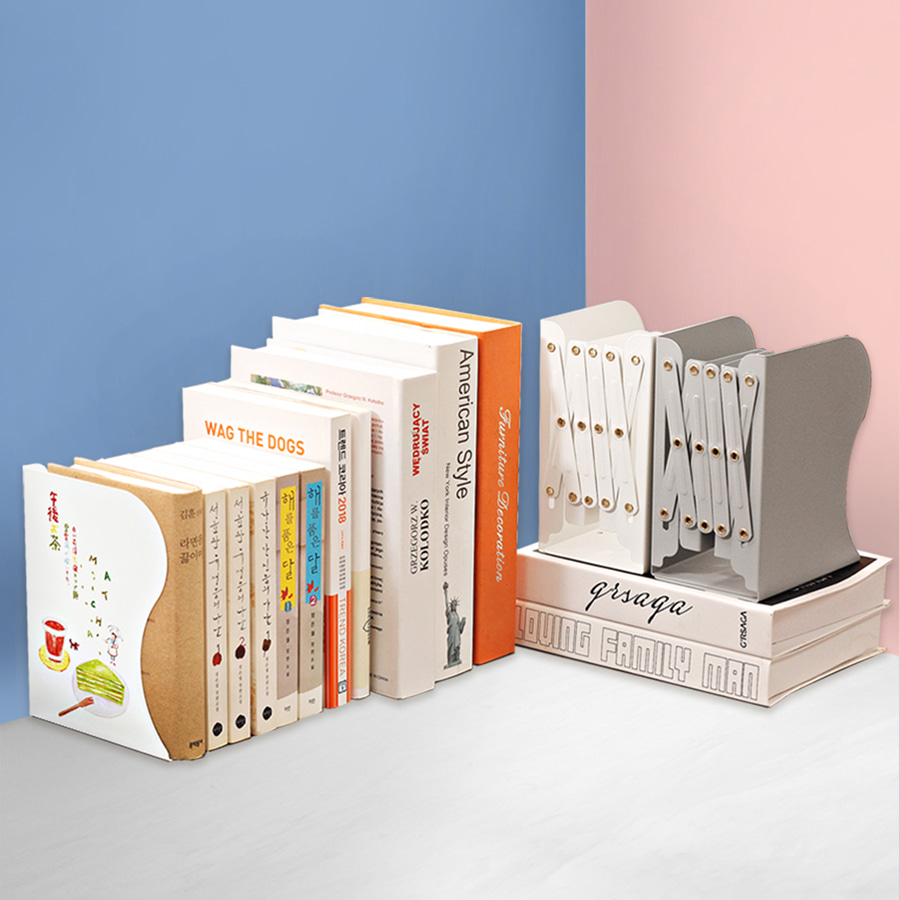 Metal Folding Bookend Series
